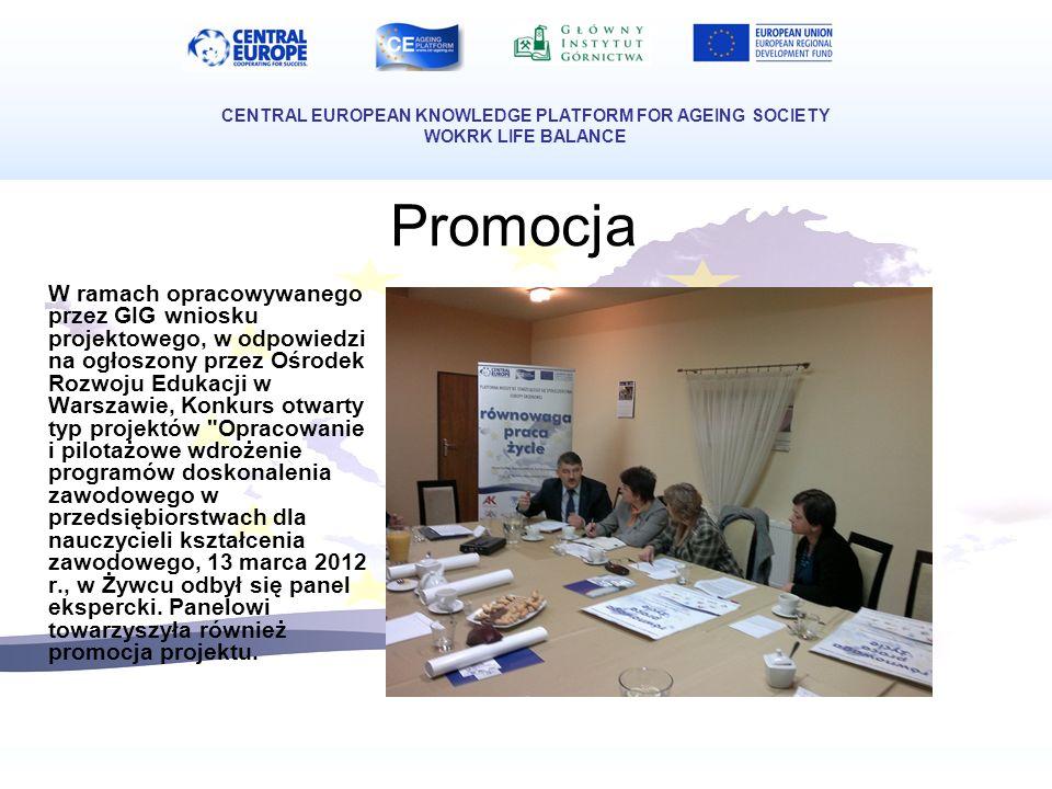 Promocja W ramach opracowywanego przez GIG wniosku projektowego, w odpowiedzi na ogłoszony przez Ośrodek Rozwoju Edukacji w Warszawie, Konkurs otwarty