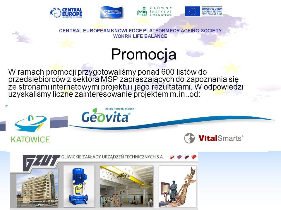 Promocja W ramach promocji przygotowaliśmy ponad 600 listów do przedsiębiorców z sektora MSP zapraszających do zapoznania się ze stronami internetowym