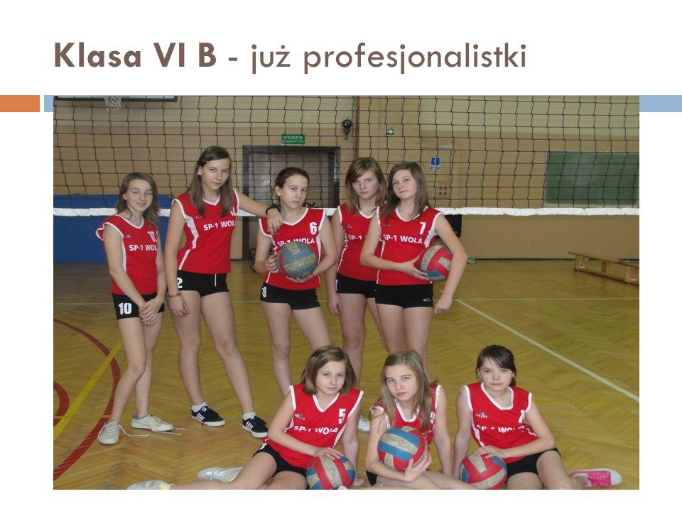 Klasa VI B - już profesjonalistki