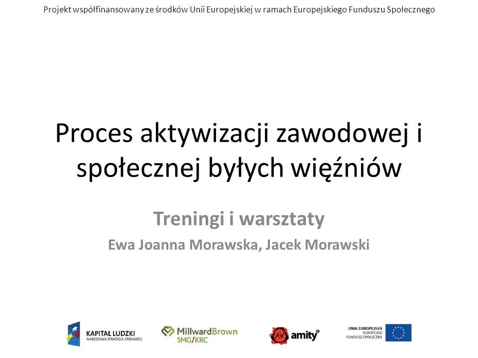 Projekt współfinansowany ze środków Unii Europejskiej w ramach Europejskiego Funduszu Społecznego Proces aktywizacji zawodowej i społecznej byłych wię