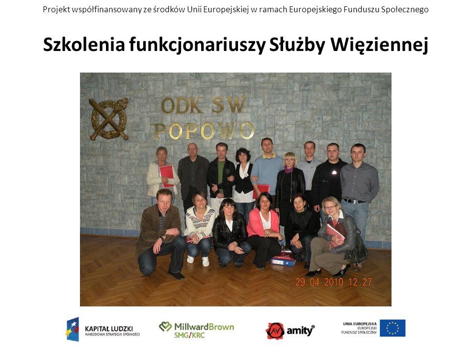 Projekt współfinansowany ze środków Unii Europejskiej w ramach Europejskiego Funduszu Społecznego Szkolenia funkcjonariuszy Służby Więziennej