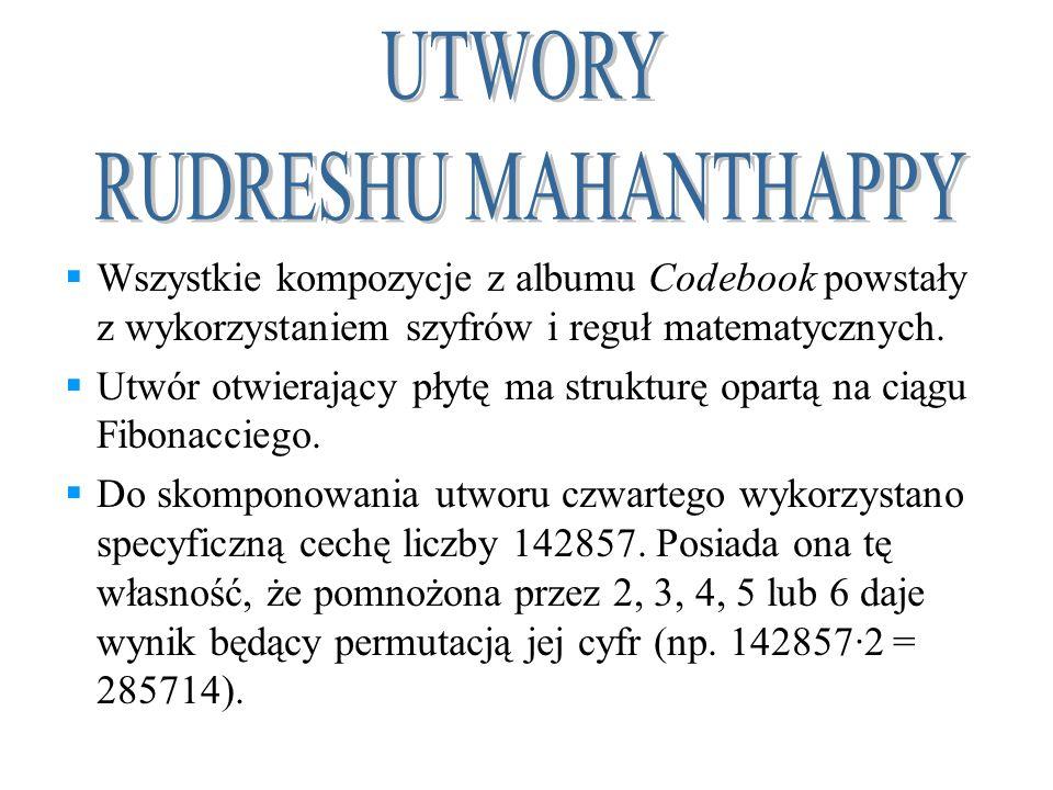 Wszystkie kompozycje z albumu Codebook powstały z wykorzystaniem szyfrów i reguł matematycznych. Utwór otwierający płytę ma strukturę opartą na ciągu