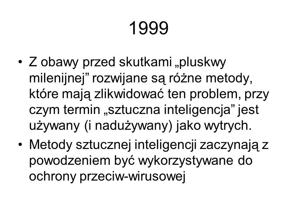 1998 Popularne stają się prace związane z zastosowaniem technik sztucznej inteligencji w automatyce i robotyce. Szczególnie dużo ciekawych wyników uzy