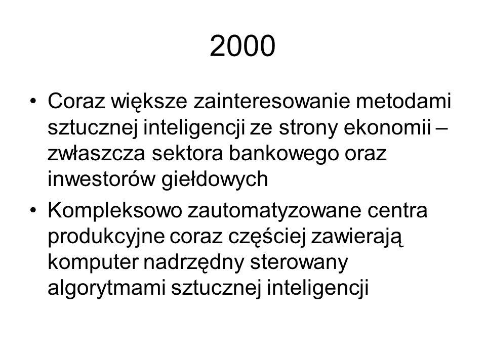 1999 Z obawy przed skutkami pluskwy milenijnej rozwijane są różne metody, które mają zlikwidować ten problem, przy czym termin sztuczna inteligencja j