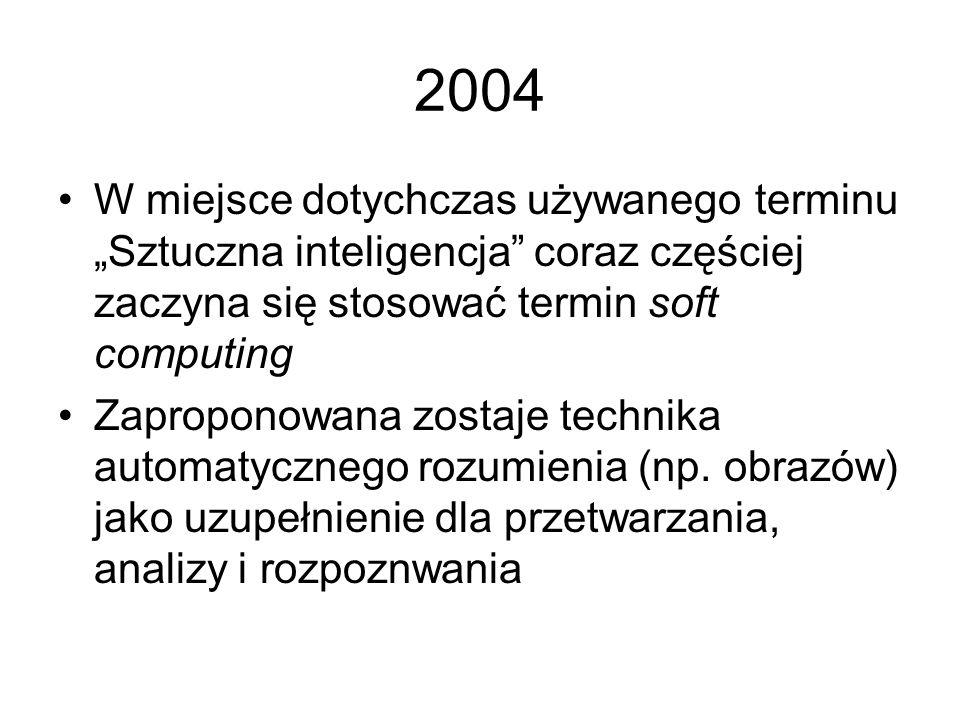 2003 Powstaje koncepcja sieci semantycznych opartych na metodach sztucznej inteligencji, mających na celu ułatwienie orientacji w narastających lawino