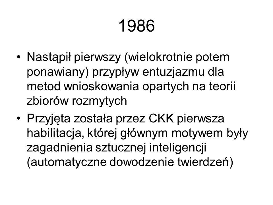1985 Powstało kilka dobrych opracowań dotyczących komputerowego przetwarzania języka naturalnego (niestety głównie angielskiego, chociaż w Polsce) Sys