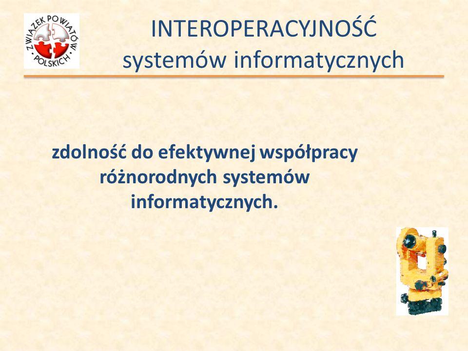 INTEROPERACYJNOŚĆ systemów informatycznych zdolność do efektywnej współpracy różnorodnych systemów informatycznych.