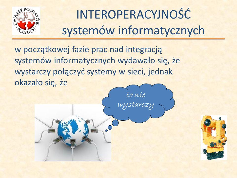 INTEROPERACYJNOŚĆ systemów informatycznych w początkowej fazie prac nad integracją systemów informatycznych wydawało się, że wystarczy połączyć system