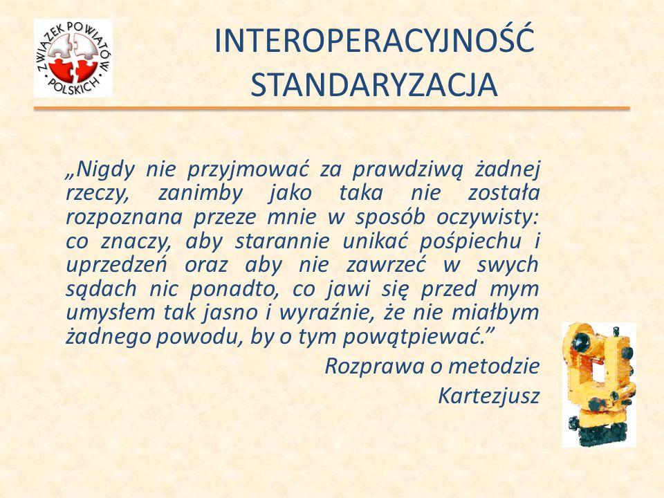 INTEROPERACYJNOŚĆ Wdrażanie a następnie zarządzanie interoperacyjnością odbywa się zgodnie z modelem hierarchicznym z tym, że konsultacje w sprawie wzorca przepływu informacji/danych prowadzone są ze wszystkimi instytucjami zaangażowanymi w proces wymiany danych