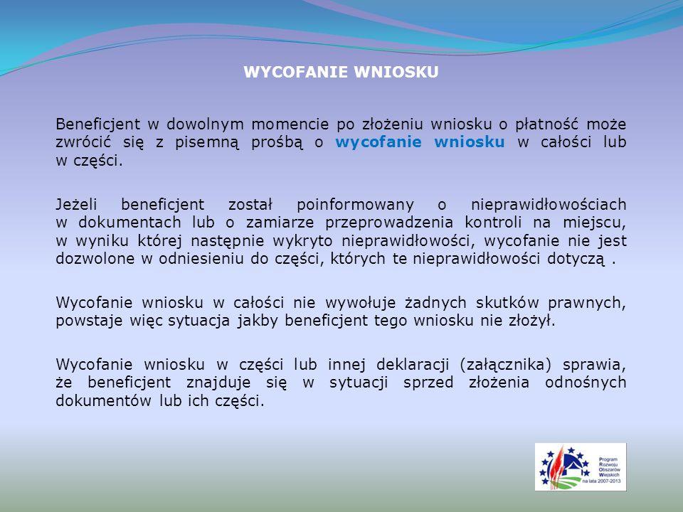 PRZEDŁUŻENIE TERMINU Beneficjent może wystąpić do urzędu marszałkowskiego z pisemną prośbą o przedłużenie terminu wykonania określonych czynności w trakcie weryfikacji wniosku.