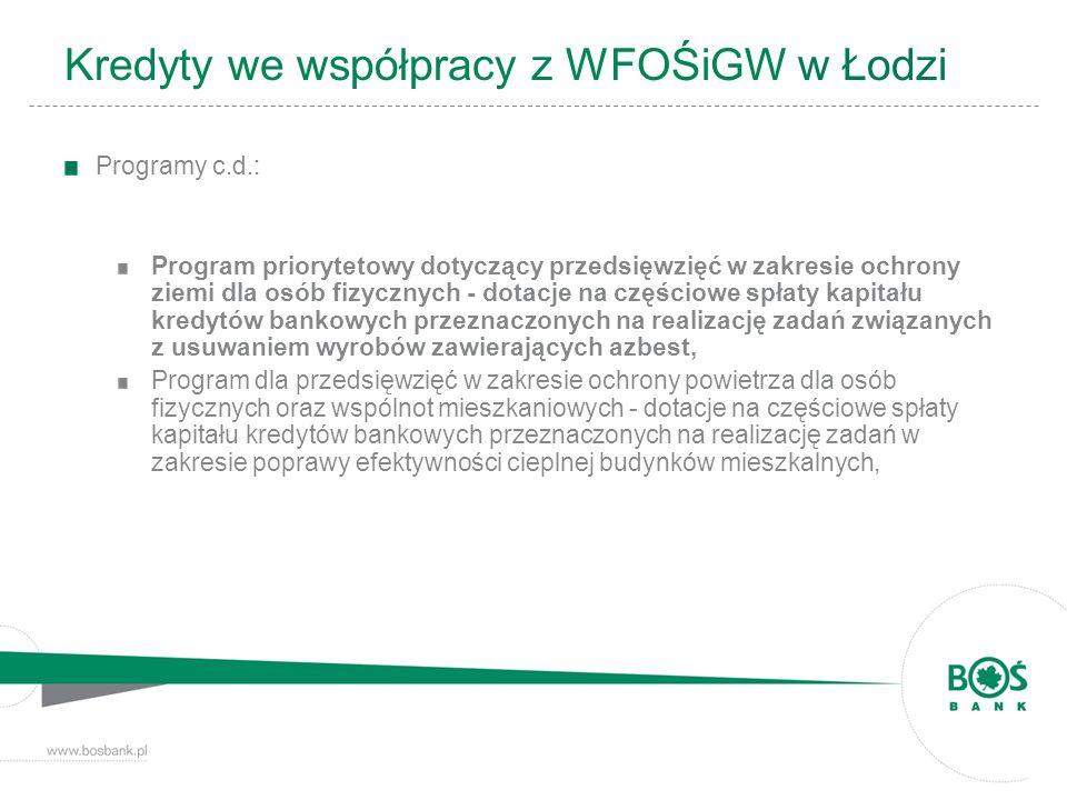 Programy c.d.: Program priorytetowy dotyczący przedsięwzięć w zakresie ochrony ziemi dla osób fizycznych - dotacje na częściowe spłaty kapitału kredyt