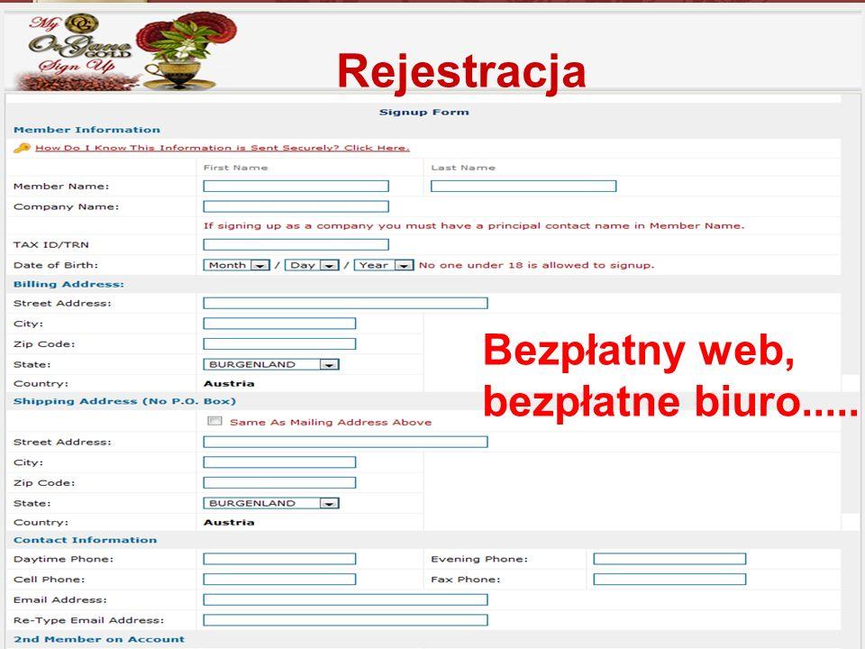 Bezpłatny web, bezpłatne biuro..... Rejestracja