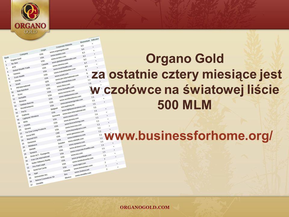 Organo Gold za ostatnie cztery miesiące jest w czołówce na światowej liście 500 MLM www.businessforhome.org/