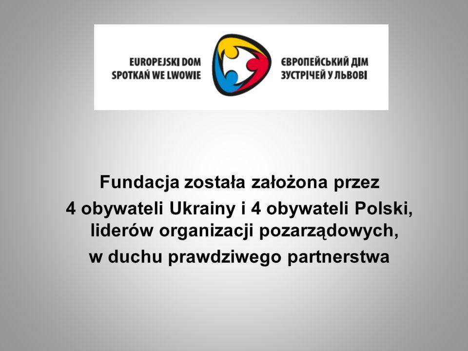 Fundacja została założona przez 4 obywateli Ukrainy i 4 obywateli Polski, liderów organizacji pozarządowych, w duchu prawdziwego partnerstwa