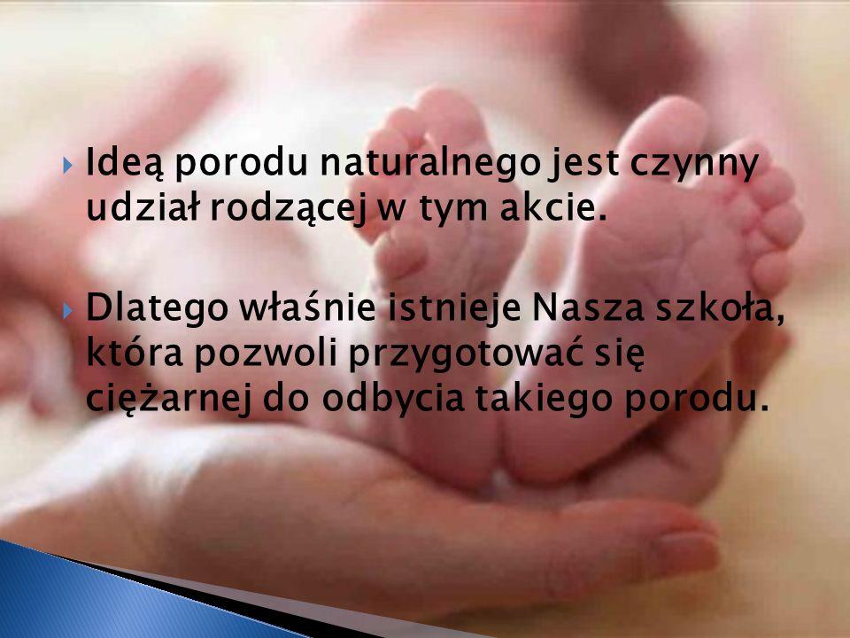 Kobieta do porodu naturalnego powinna przygotować się fizycznie i psychicznie.