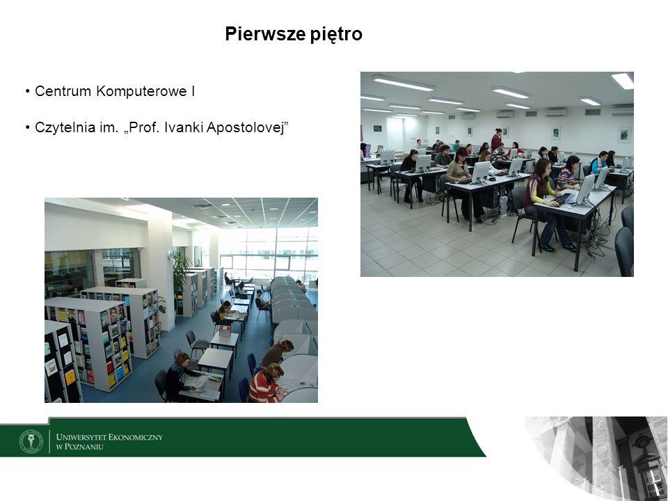 Pierwsze piętro Centrum Komputerowe I Czytelnia im. Prof. Ivanki Apostolovej