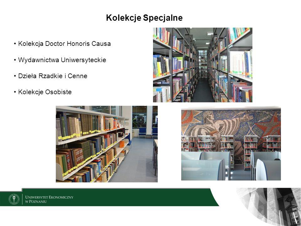 Kolekcje Specjalne Kolekcja Doctor Honoris Causa Wydawnictwa Uniwersyteckie Dzieła Rzadkie i Cenne Kolekcje Osobiste