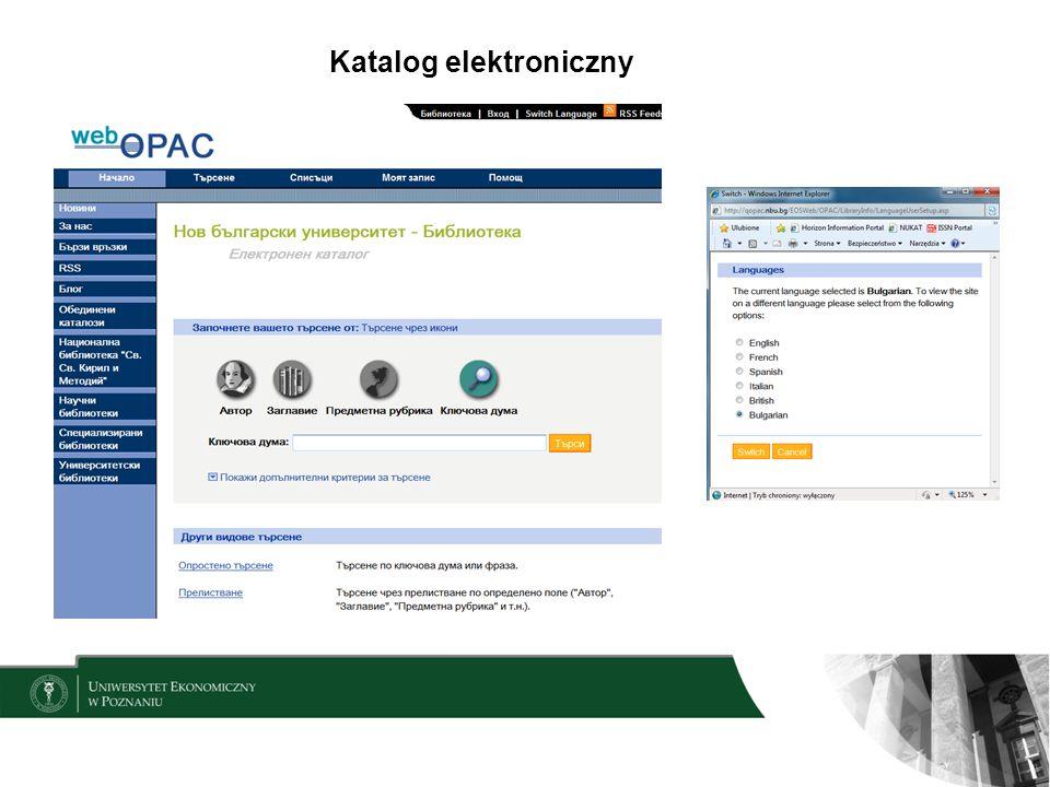 Katalog elektroniczny