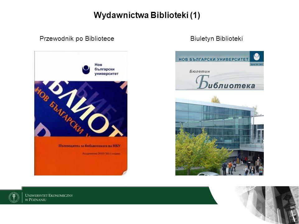 Wydawnictwa Biblioteki (1) Przewodnik po BiblioteceBiuletyn Biblioteki