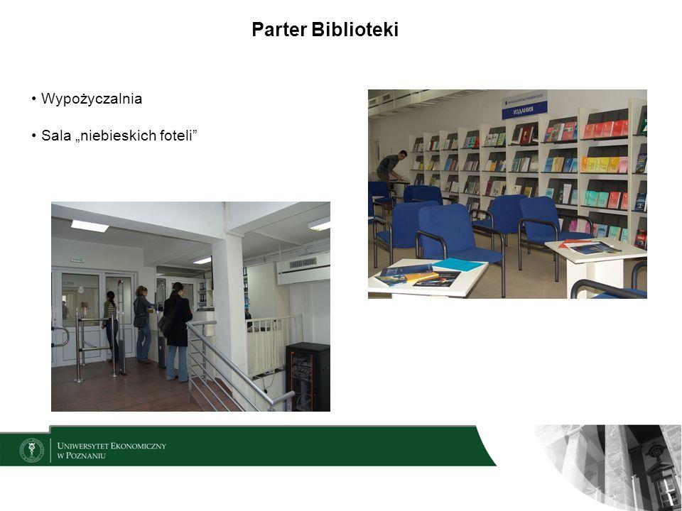 Organizacja księgozbioru na terenie Czytelni i Wypożyczalni Wolny dostęp do zbiorów Klasyfikacja UKD Kolorowe paski określają lokalizację i okres, na jaki można wypożyczyć materiały: zielony – książka może być wypożyczona na jeden miesiąc pomarańczowy – książka może być wypożyczona na dziesięć dni czerwony – książkę z Wypożyczalni można przenieść do Czytelni żółty – książka znajdująca się w Czytelni niebieski – książka z Kolekcji Specjalnych do korzystania tylko na miejscu brak paska oznacza zbiory audiowizualne wypożyczane na trzy dni