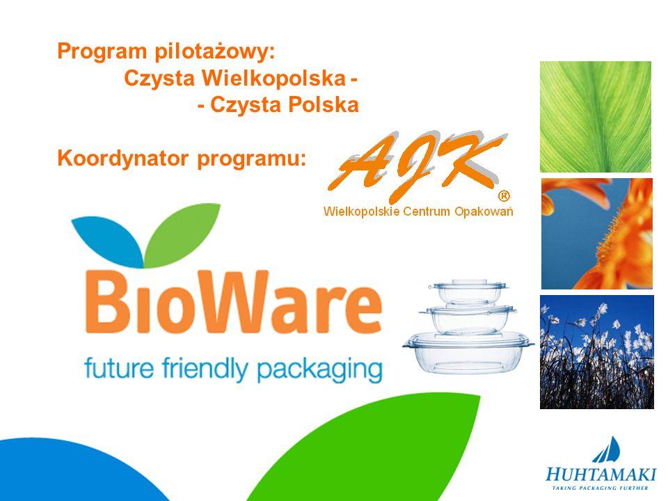 Program pilotażowy: Czysta Wielkopolska - - Czysta Polska Koordynator programu: