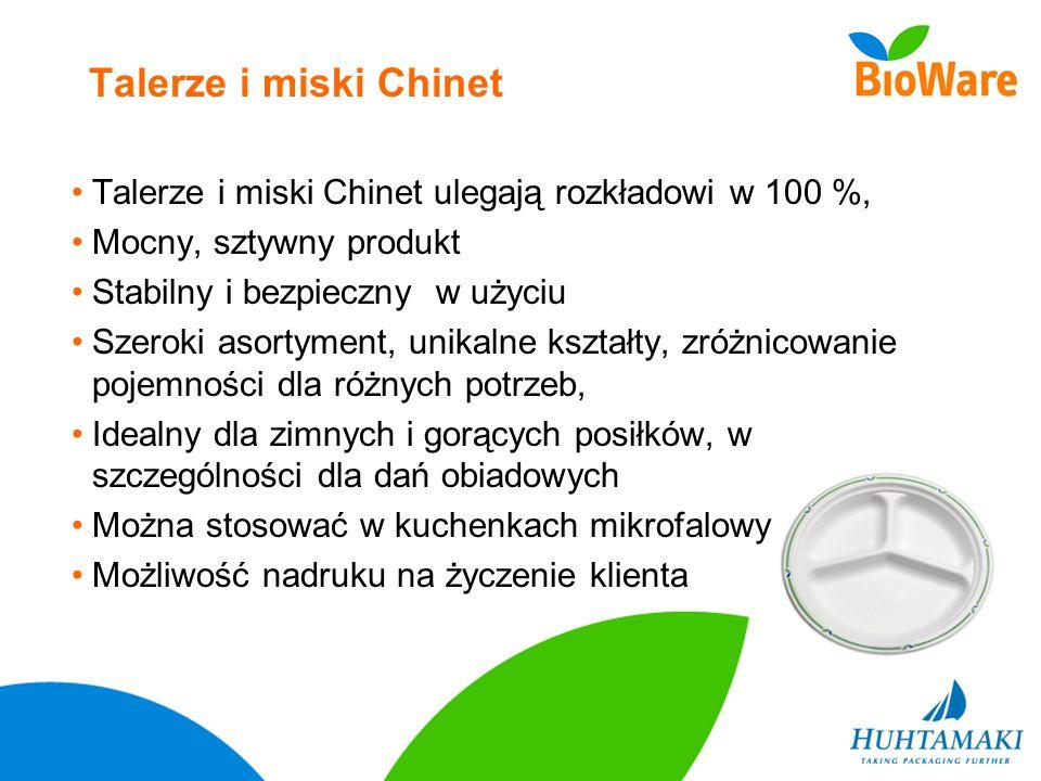 Talerze i miski Chinet Talerze i miski Chinet ulegają rozkładowi w 100 %, Mocny, sztywny produkt Stabilny i bezpieczny w użyciu Szeroki asortyment, un