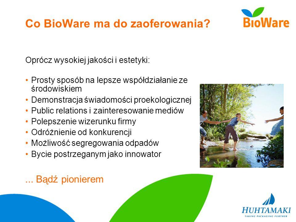 Co BioWare ma do zaoferowania? Prosty sposób na lepsze współdziałanie ze środowiskiem Demonstracja świadomości proekologicznej Public relations i zain