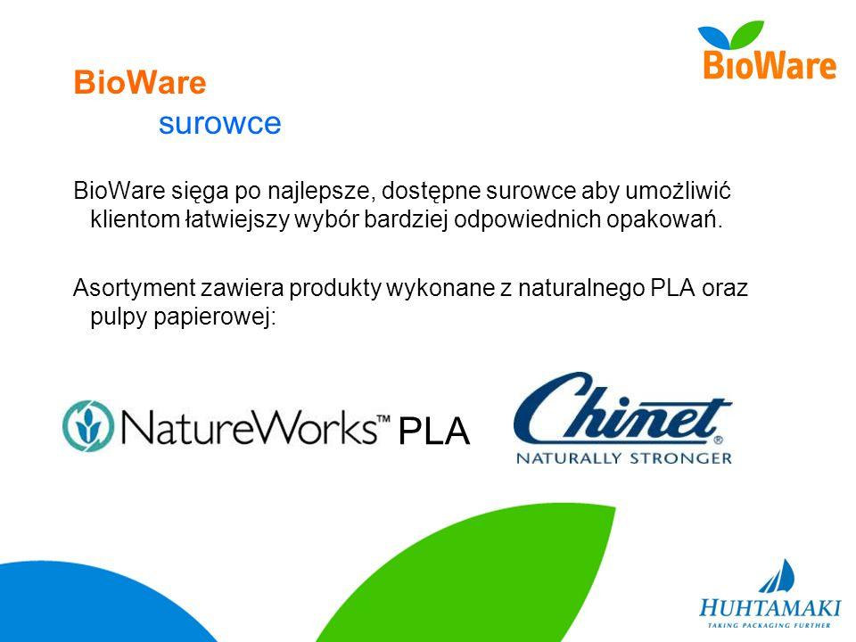 BioWare surowce BioWare sięga po najlepsze, dostępne surowce aby umożliwić klientom łatwiejszy wybór bardziej odpowiednich opakowań. Asortyment zawier