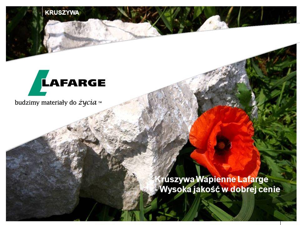Date6 KRUSZYWA Kruszywa Wapienne Lafarge - Wysoka jakość w dobrej cenie