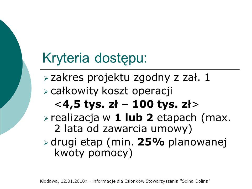 Dziękujemy za uwagę Kłodawa, 12.01.2010r. - informacje dla Członków Stowarzyszenia Solna Dolina