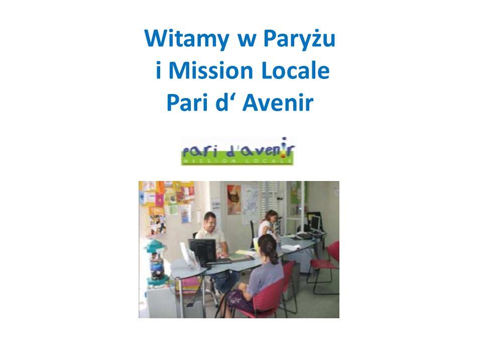 Witamy w Paryżu i Mission Locale Pari d Avenir