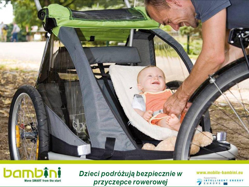 Dzieci podróżują bezpiecznie w przyczepce rowerowej