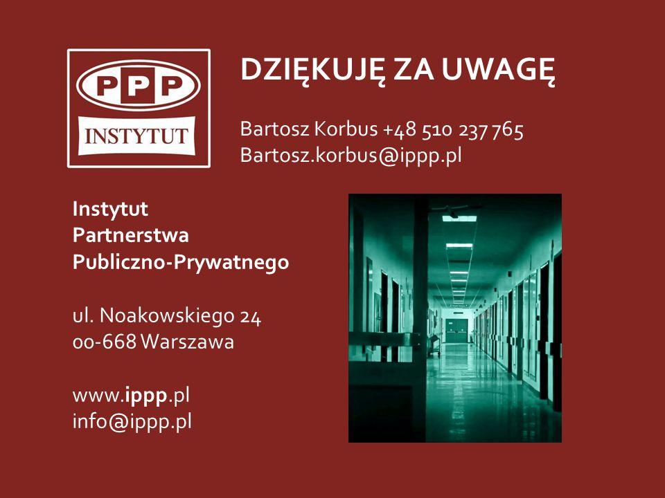 Instytut PPP ul. Noakowskiego 24, 00-668 Warszawa tel. (22) 435-95-02 faks (22) 482-10-50 e-mail info@ippp.pl www.ippp.pl 31 Instytut Partnerstwa Publ