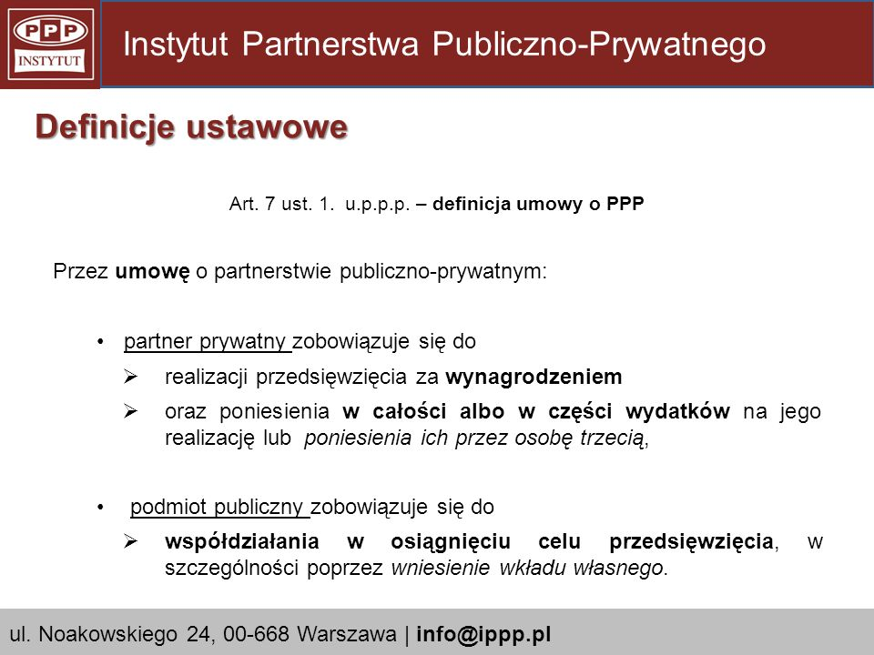 Art.7 ust. 1. u.p.p.p.
