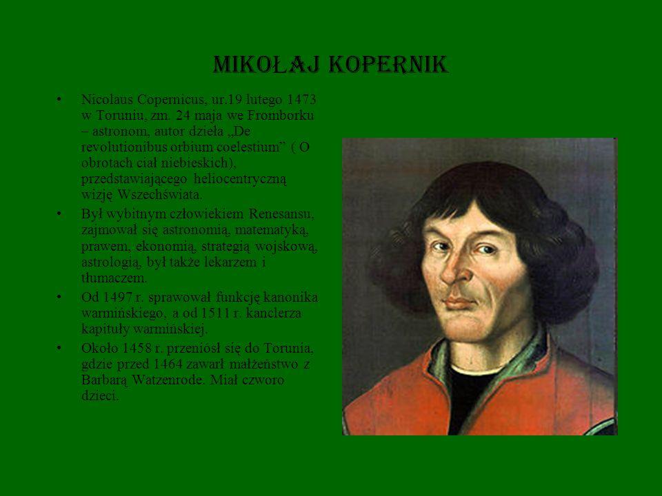 Mikołaj Kopernik na przełomie 1491/1492 rozpoczął studia na Akademii Krakowskiej.