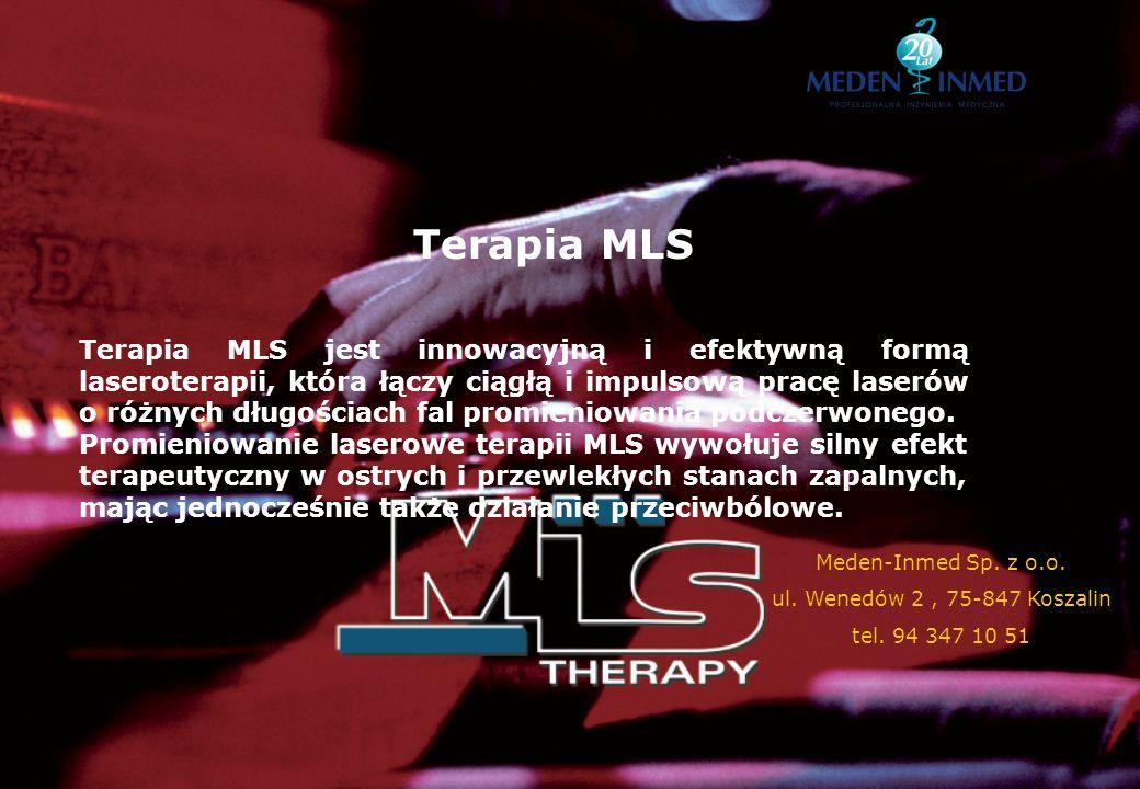 Terapia MLS Terapia MLS jest innowacyjną i efektywną formą laseroterapii, która łączy ciągłą i impulsową pracę laserów o różnych długościach fal promi