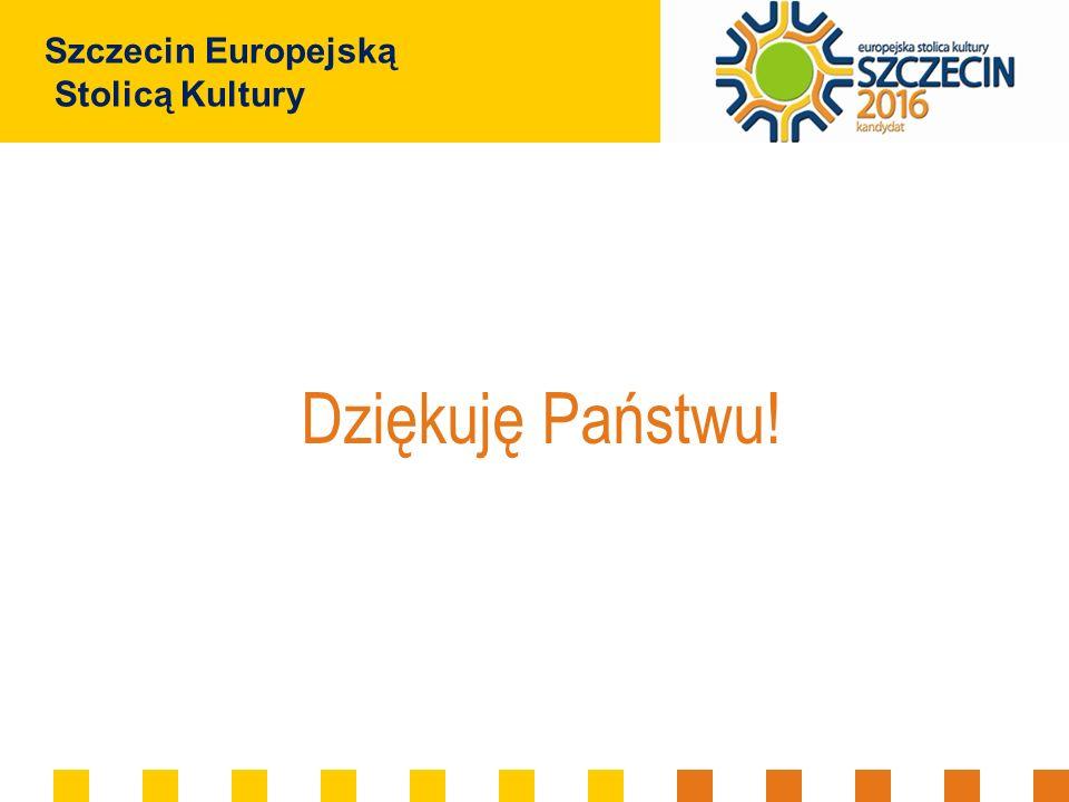 Szczecin Europejską Stolicą Kultury Dziękuję Państwu!