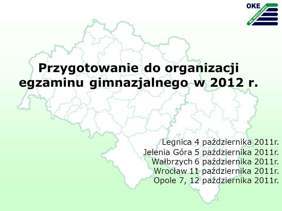 Legnica 4 października 2011r. Jelenia Góra 5 października 2011r.