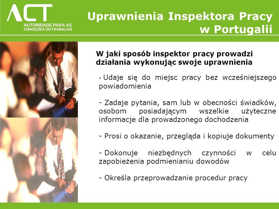 W jaki sposób inspektor pracy prowadzi działania wykonując swoje uprawnienia - Udaje się do miejsc pracy bez wcześniejszego powiadomienia - Zadaje pyt
