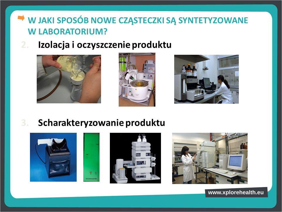 2. Izolacja i oczyszczenie produktu 3. Scharakteryzowanie produktu W JAKI SPOSÓB NOWE CZĄSTECZKI SĄ SYNTETYZOWANE W LABORATORIUM?