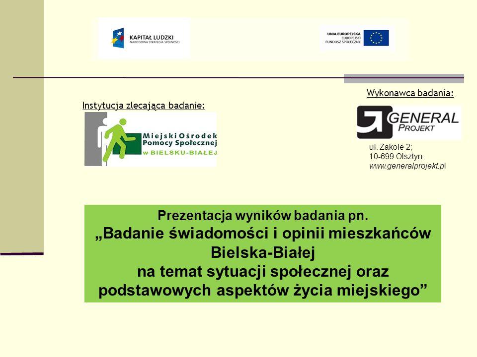 Prezentacja wyników badania pn. Badanie świadomości i opinii mieszkańców Bielska-Białej na temat sytuacji społecznej oraz podstawowych aspektów życia