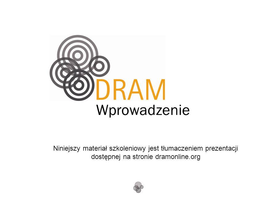 Wprowadzenie Niniejszy materiał szkoleniowy jest tłumaczeniem prezentacji dostępnej na stronie dramonline.org
