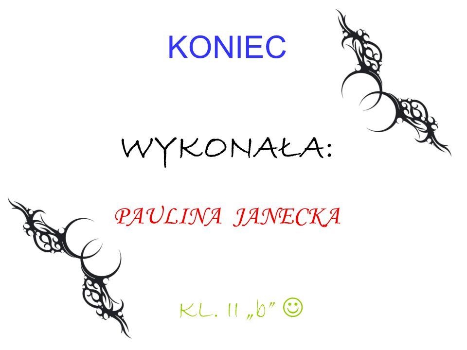 KONIEC WYKONAŁA: PAULINA JANECKA KL. II b
