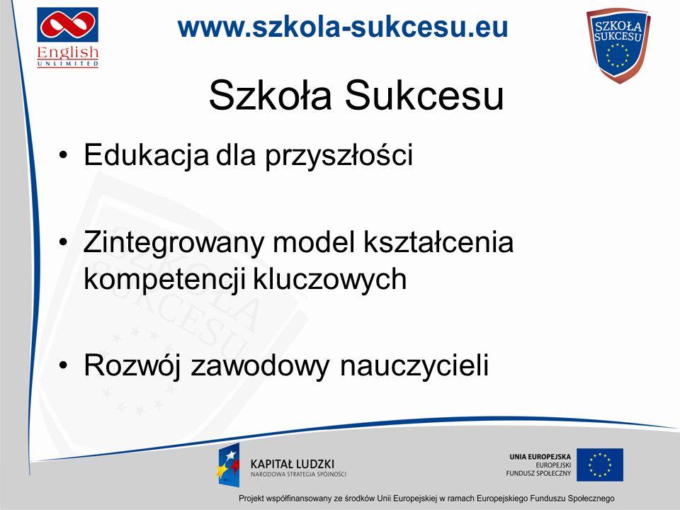 Szkoła Sukcesu Edukacja dla przyszłości Zintegrowany model kształcenia kompetencji kluczowych Rozwój zawodowy nauczycieli