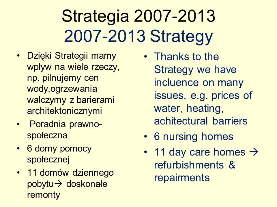 Staregia 2007-2013 2007-2013 Strategy Rehabilitacja os.