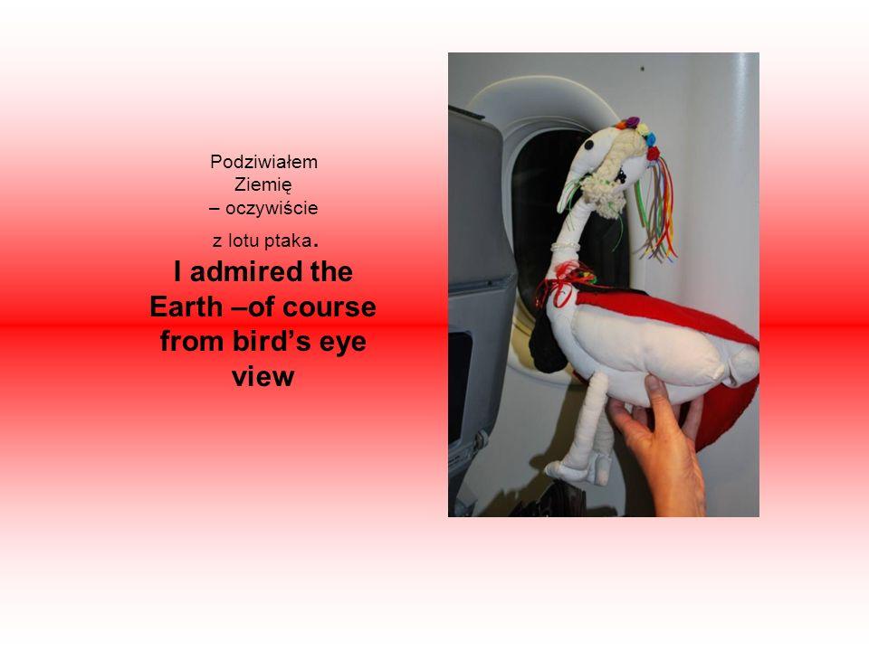 Podziwiałem Ziemię – oczywiście z lotu ptaka. I admired the Earth –of course from birds eye view