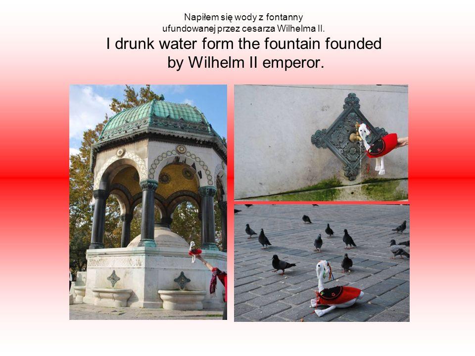 Napiłem się wody z fontanny ufundowanej przez cesarza Wilhelma II.