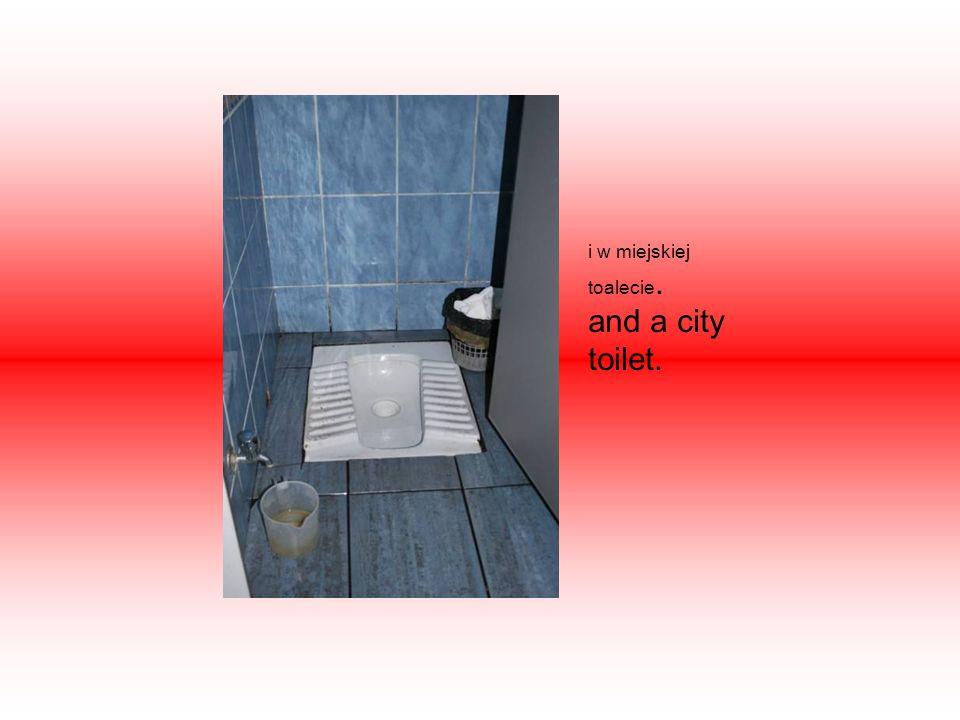 i w miejskiej toalecie. and a city toilet.