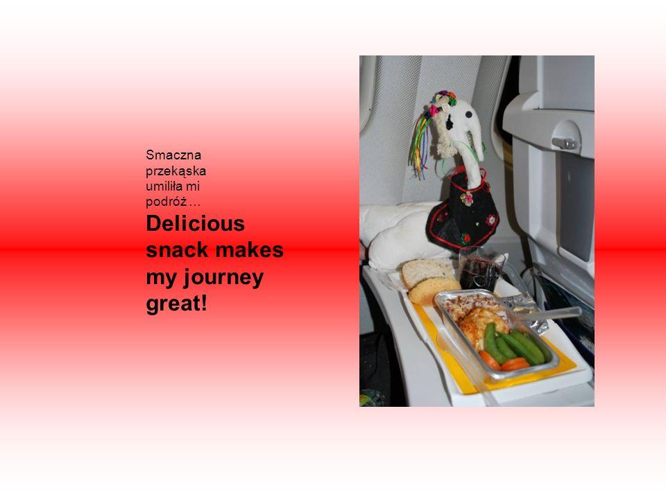 Smaczna przekąska umiliła mi podróż … Delicious snack makes my journey great!