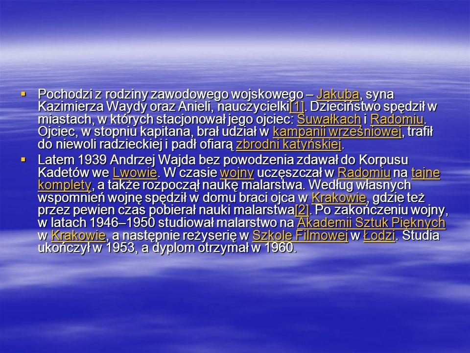 Pochodzi z rodziny zawodowego wojskowego – Jakuba, syna Kazimierza Waydy oraz Anieli, nauczycielki[1]. Dzieciństwo spędził w miastach, w których stacj